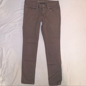 AE Grey/Brown skinny pants